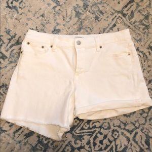 J.crew white denim shorts size 29 EUC